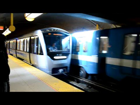 IMPRESSIVE RIDE ON NEW MONTREAL AZUR METRO