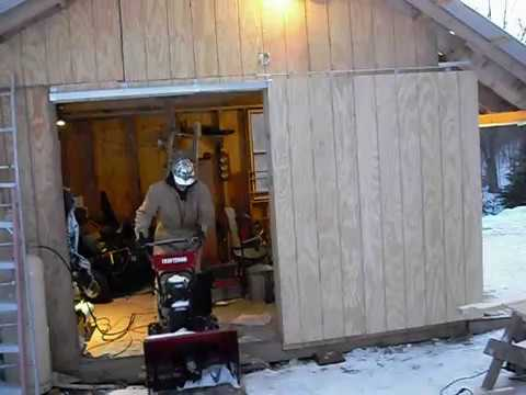 My newly installed Sliding Door for my Shed - YouTube