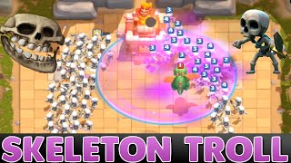 Clash Royale - SKELETONS ONLY TROLL / CHALLENGE - Trolling Noobs in Clash Royale