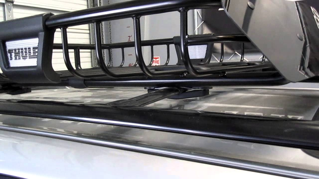 Toyota 4 Runner With Thule 690xt Moab Roof Rack Basket By