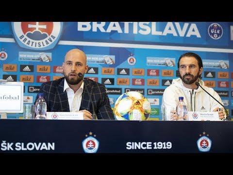 Tlačová konferencia ŠK Slovan Bratislava pred jarnou časťou 2019