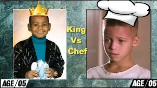 Stephen Curry vs LeBron James Transformation - age 3 to 32 - Chef vs King thumbnail