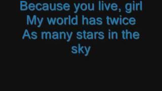 Jesse Mccartney - because you live lyrics