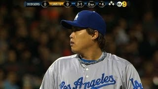LAD@SF: Ryu gives the Dodgers an outstanding start