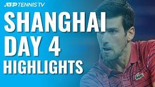 Djokovic Eases Past Shapovalov; Zverev, Tsitsipas, Thiem Progress   Shanghai 2019 Day 4 Highlights