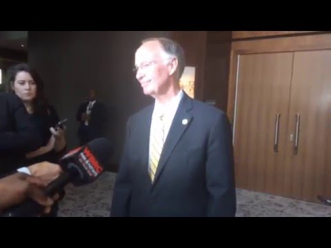 Gov. Bentley talks Hubbard trial, possible impeachment in Birmingham