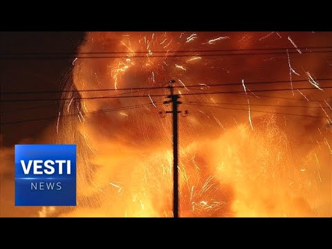 Massive Ammo Explosion in Ukraine! Fire Still Raging, But No One Even Allowed Near Site!