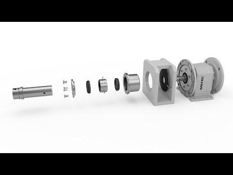 Установка механического торцевого уплотнения SOLTEC ® DY-802 на приводной вал винтового насоса