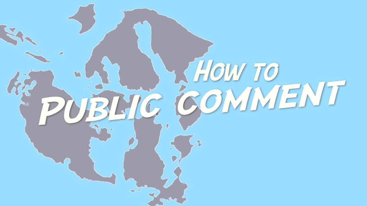 Public Comment on the Comp Plan, and How to be Effective.