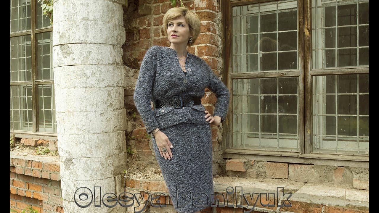 Модель платья в стиле Шанель Ткань в стиле Шанель скомбинирована с .