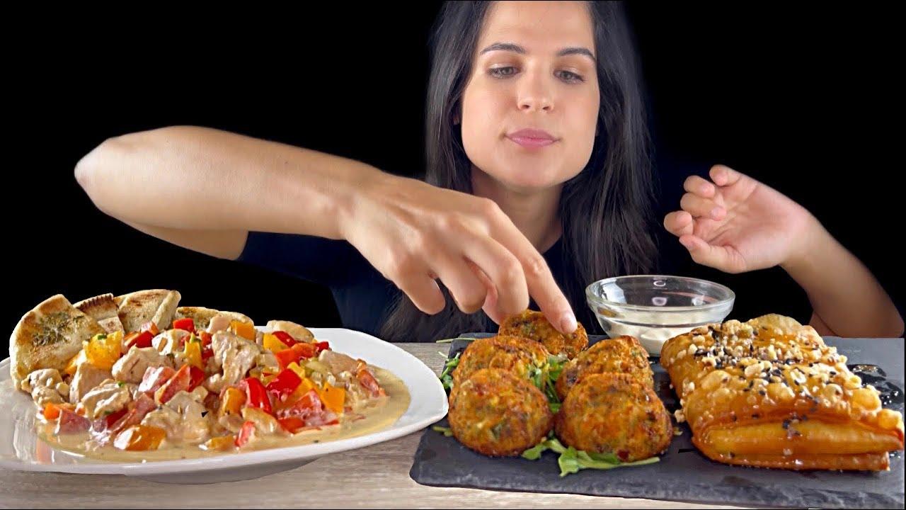 GREEK FOOD   MUKBANG   ASMR