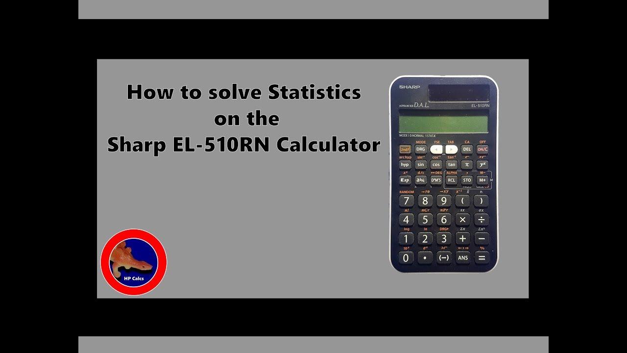 stats mode on the sharp el 510rn calculator youtube rh youtube com Latest Sharp Scientific Calculator Latest Sharp Scientific Calculator