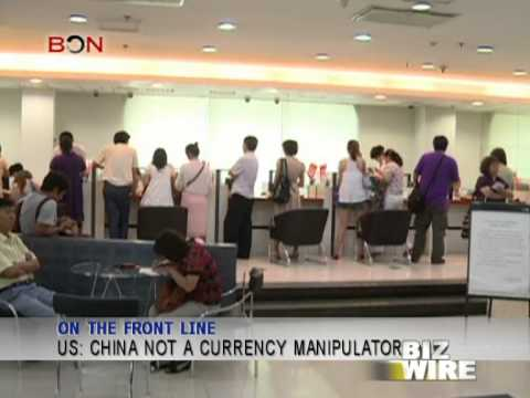 US: China not a currency manipulator - Biz Wire - November 30 - BONTV