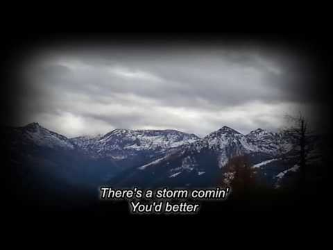 Richard Hawley -There's a Storm a' Comin' (lyrics on screen)