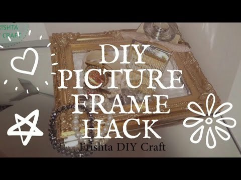 DIY pictuer frame hack | Gold Shabby Picture Frame Makeover Under $1 | 5 Minutes Craft