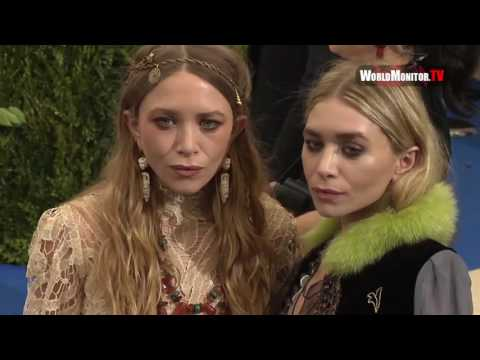 Olsen twins Mary Kate Olsen, Ashley Olsen arrive at 2017 Met Gala