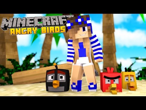 Minecraft-Who's your daddy?? ATTACK OF THE ANGRY BIRDS!