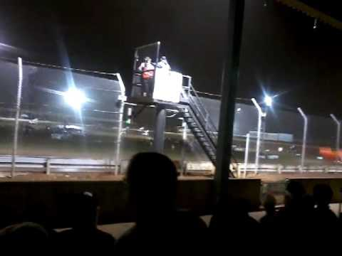 All Star Circuit of Champions Sprintcar feature at Sharon Speedway.