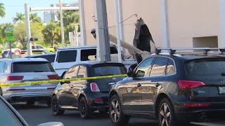 Car thief crashes into Office Depot after being shot
