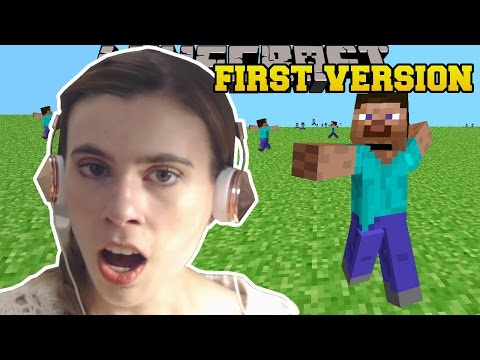 REACTING TO THE FIRST VERSION OF MINECRAFT!!! - Видео из Майнкрафт (Minecraft)