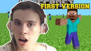 REACTING TO THE FIRST VERSION OF MINECRAFT!!!