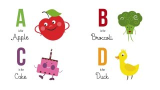 ABC Childrens Alphabet Animation- 'A is for...'