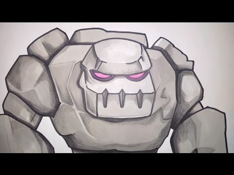 How To Draw Golem From Clash Of Clans Step By Step