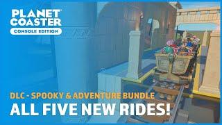 Riding All Five New Rides - Spooky & Adventure Bundle (DLC) - Planet Coaster: Console Edition