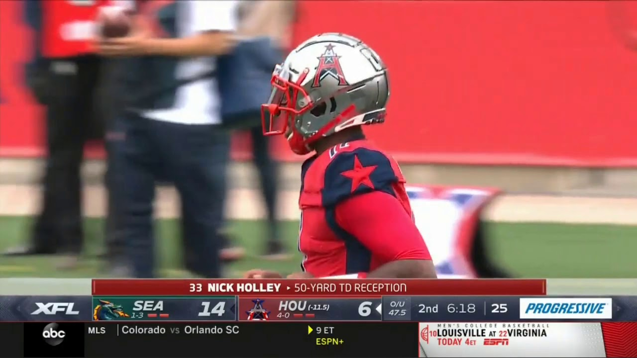 Nick Holley 50 Yard Touchdown | Dragons vs. Roughnecks | XFL Week 5