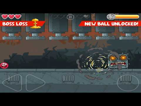 Red Ball 4 : Box Factory - Level 45 - Boss Walkthrough {Gameplay / HD}