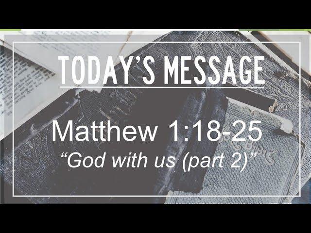 12/24/2018 Matthew 1:18-25,