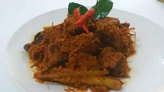 How To Make Beef Rendang (Recipe), ビーフルンダンの作り方(レシピ), Cara Memasak Rendang Daging (Resep)