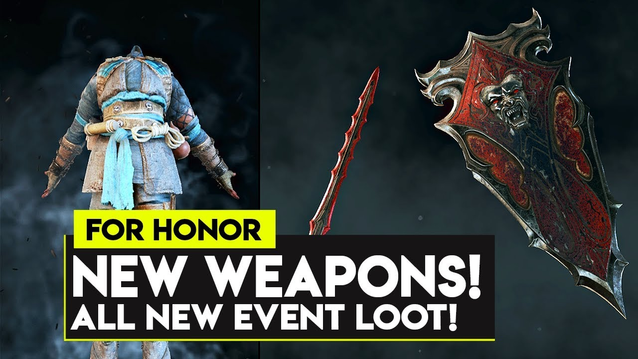 For Honor: NEW EVENT WEAPONS! ALL SHADOW OF THE HITOKIRI NEW