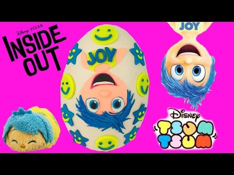 Disney Pixar's Inside Out Joy Play Doh Surprise Egg! Deluxe Figurine Playset! Blind Bags! Shopkins!