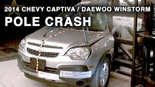 2014 Chevy Captiva / Daewoo Winstorm | Pole Crash Test | CrashNet1