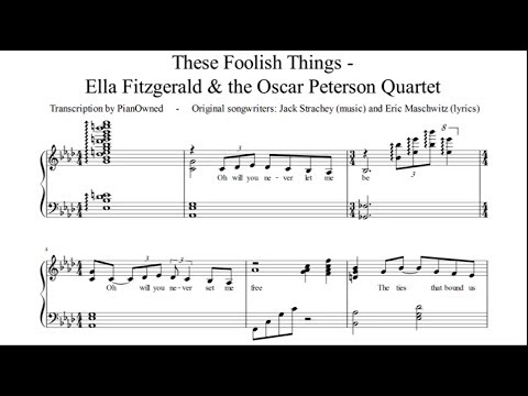 These Foolish Things - Jazz Piano Sheet Music (Oscar Peterson)
