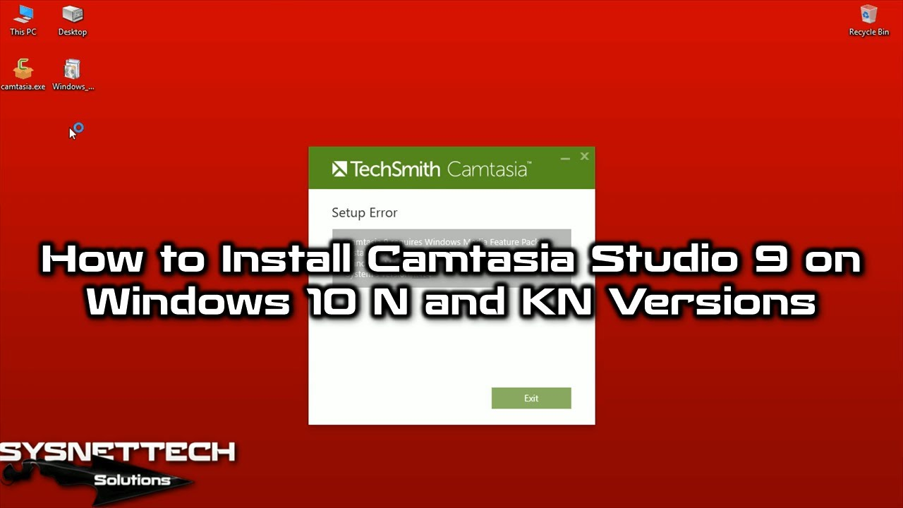 camtasia studio for windows 10
