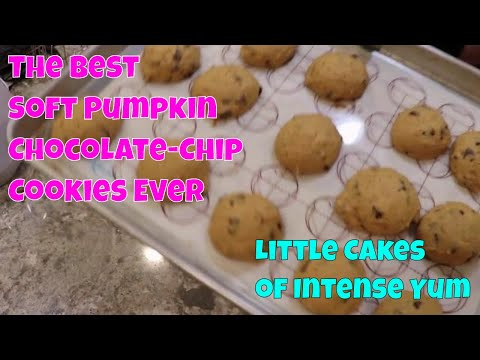 Soft Pumpkin Chocolate Chip Cookies - Bake With Me- Recipe Tutorial