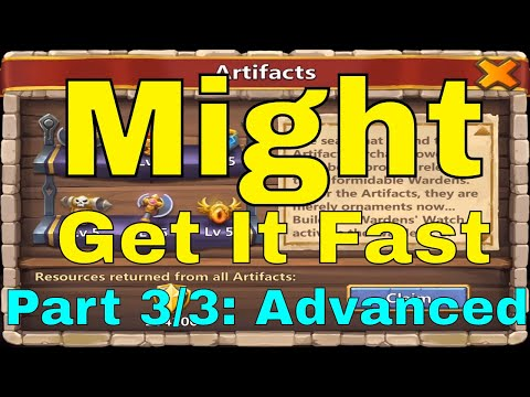 Castle Clash Get Might Fast Raise Might Efficiently (Part 3/3: Advanced)