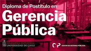 Diploma de Postítulo en Gerencia Pública - UdeChile