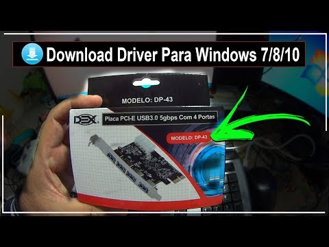 Placa PCI-E USB 3.0 (DP-43) • Download do Driver Para Windows 7/8/10 • (nº1098)