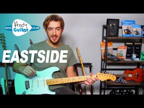 Eastside guitar lesson tutorial (Halsey, benny blanco, Khalid)
