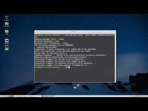 Uninstall program in Linux Mint or Ubuntu using Terminal
