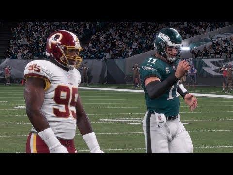 Madden NFL 18 Gameplay | Eagles vs Redskins Monday Night Football Week 7