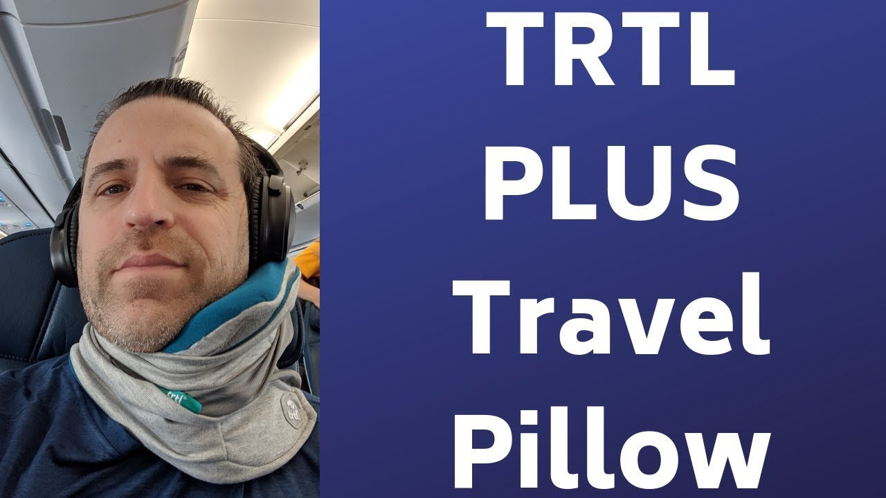 trtl plus travel pillow review and demo