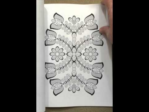 Flower Designs Coloring Book An Adult For Stress Relief Volume 2 Flip Through