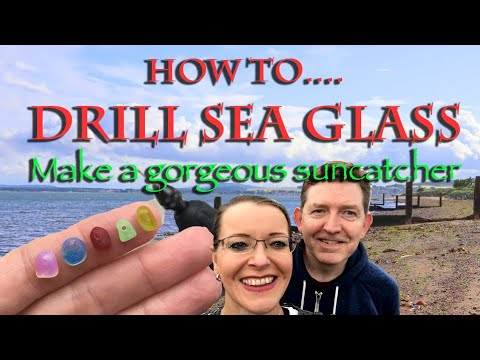 Top 10 Tips for Drilling Sea Glass - mudlarking for our beach craft sun catcher