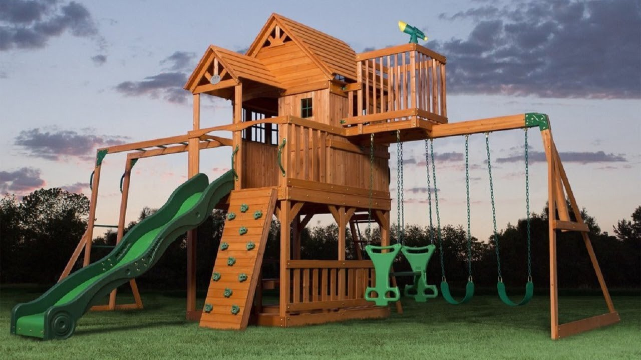 Top 7 Wooden Swing Sets And Playsets Of 2018 Most Greatest And