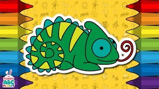 How To Draw A CHAMELEON | Drawing, Coloring and Animation | Step by Step | for Kids