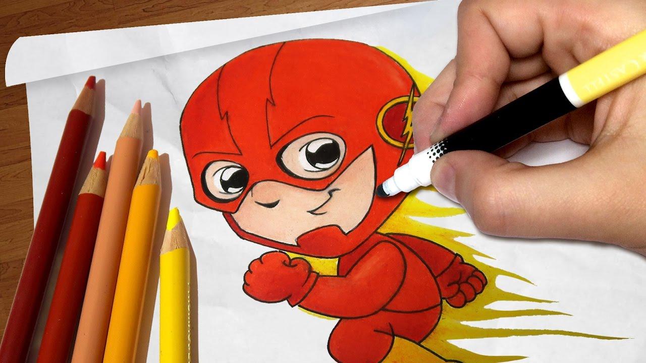 Como Desenhar O Flash Chibi Cartoon Passo A Passo 71 Youtube